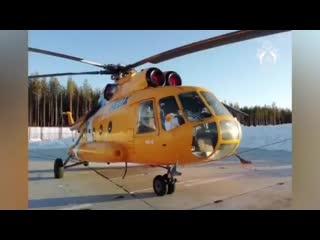 Неизвестные обстреляли картечью вертолёт Ми-8 в Коми, когда он заходил на посадку. 4 члена экипажа не пострадали