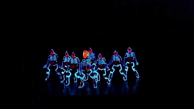 Невероятное световое шоу Dubstep dance