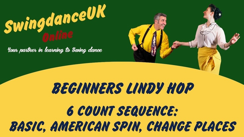 6Count Open Basic American Spin Change Places Twist Around Lindy Hop Beginners Swing dance class