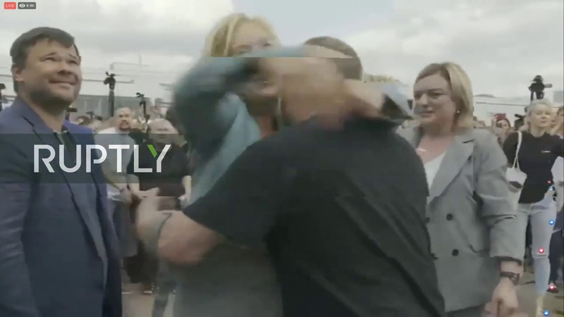 LIVE: Welcoming ceremony for Ukraine prisoners at Kiev Boryspol airport