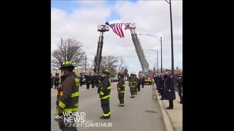 Чикаго прощание с пожарным