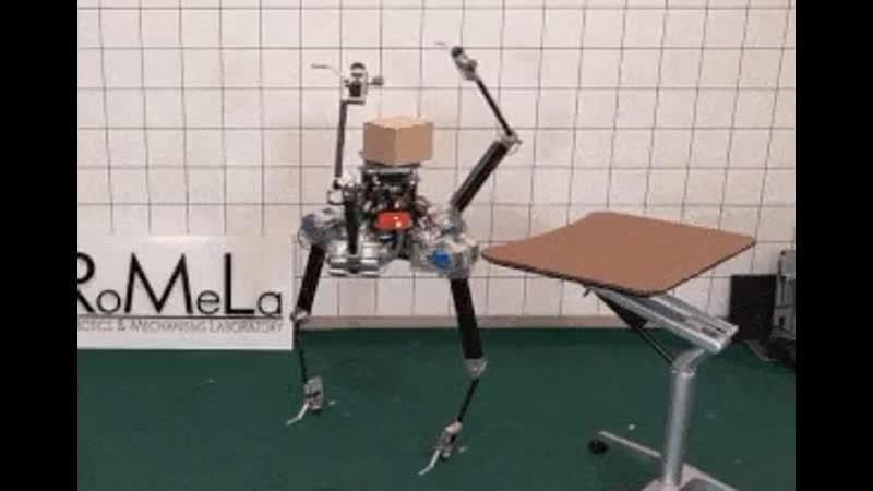 Робот научился стоять на двух ногах