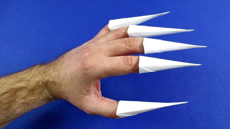 Как сделать бумажные когти из бумаги