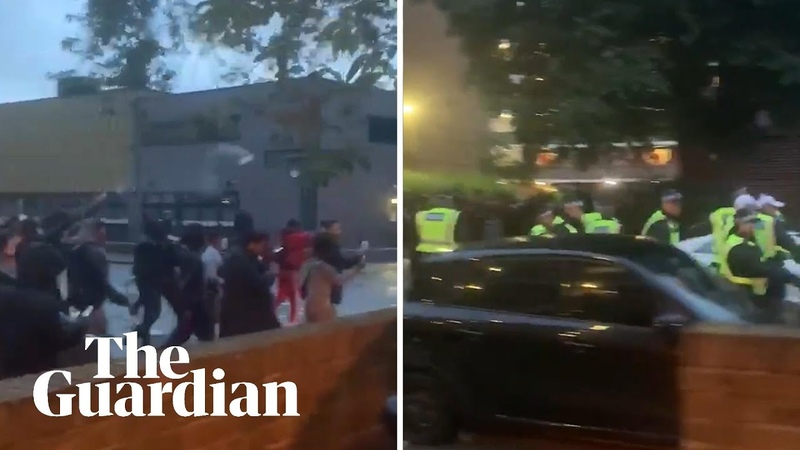 Police officers attacked by crowds at illegal White City music event