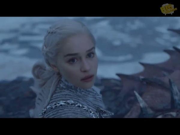 Король Ночи убивает первого дракона Игра Престолов 7 сезон 6 серия эпичные моменты