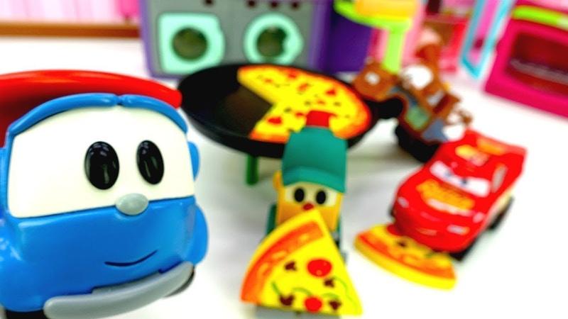 Spielzeugvideo für Kinder Leo der Lastwagen geht Einkaufen Video auf Deutsch
