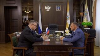 Губернатор Владимиров провёл рабочую встречу с руководителем краевого минпрома
