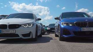 Это вам не Форсаж 9! ГОНКИ ПО ВЗРОСЛОМУ - BMW m340i vs Сamaro SS, BMW M3, Audi A7