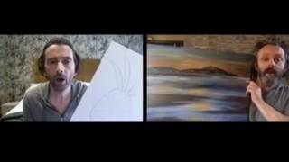 David Tennant and Michael Sheen - Art Comparisons