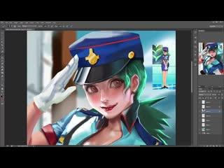 Sakimichan - term 7 - Officer jenny_vidProcess