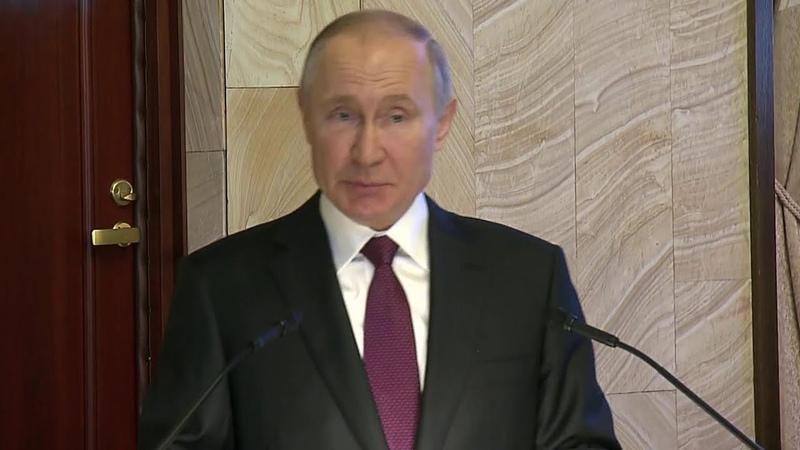 Владимир Путин выступил на заседании коллегии ФСБ России