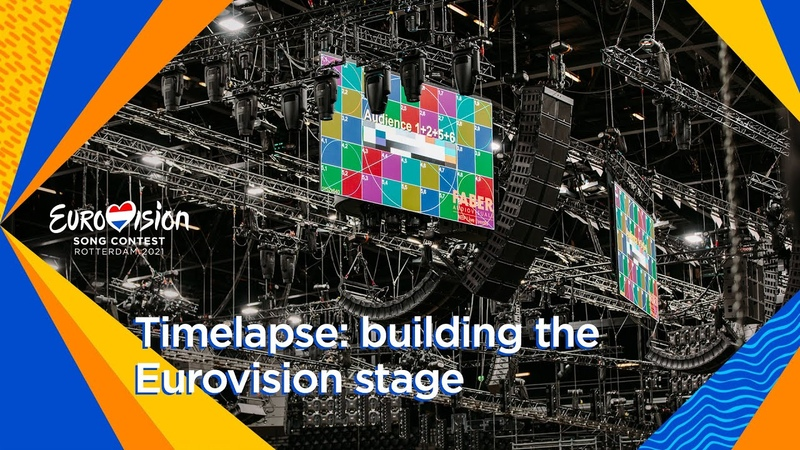 Timelapse the construction of the Eurovision stage in Rotterdam Ahoy Eurovision 2021