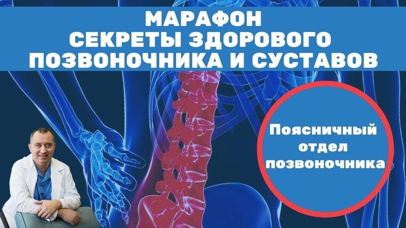 Боли в поясничном отделе! Марафон Секреты здорового позвоночника и суставов от Доктора Шишонина.