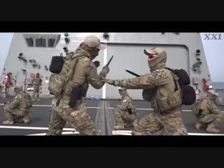 Тренировка спецназа. Рукопашный бой. Ножевой бой.