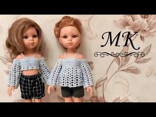 Нарядная блузка или стильный топ для куклы Паола Рейна, мастер-класс
