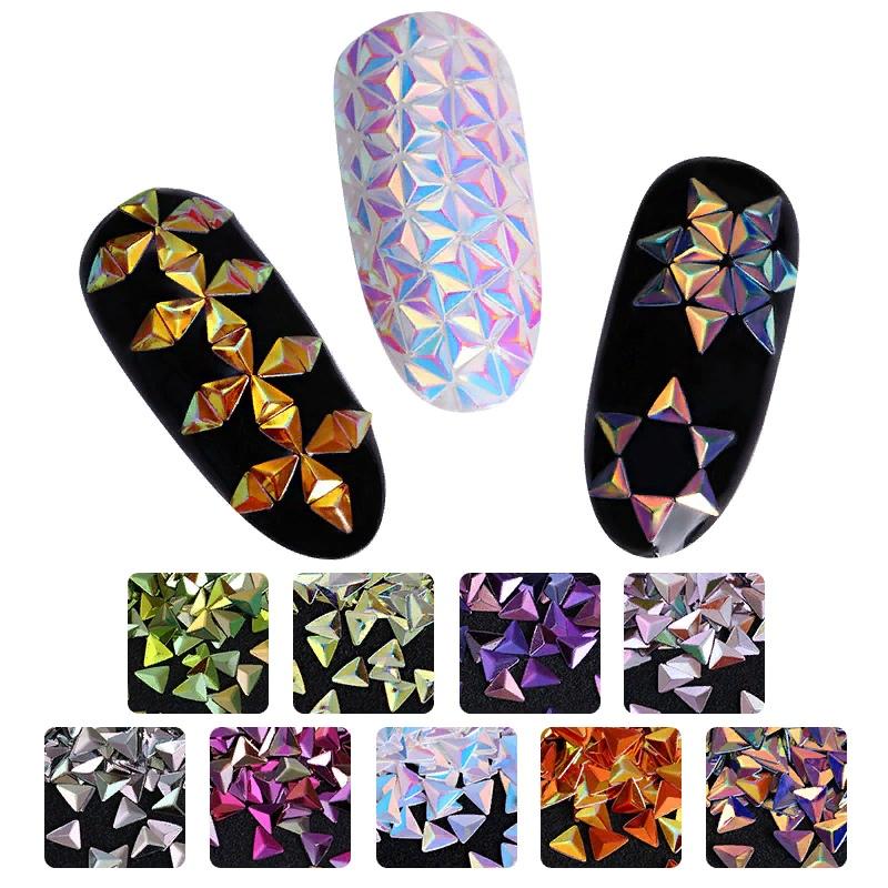 Модный маникюр с покрытием ногтей «Чешуя дракона», изображение №6