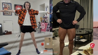 Knut does a side-by-side leg comparison with xQc