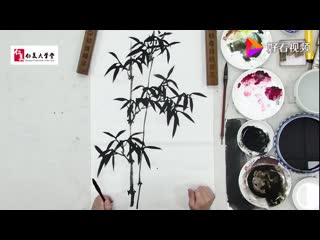 Китайская живопись гохуа. Обучение рисованию бамбука