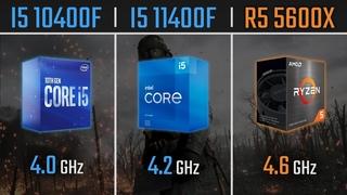 I5 10400F vs I5 11400F vs Ryzen 5 5600X | 1080P, 1440P & 4K Benchmarks