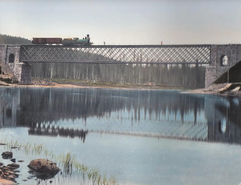 Первозданная железнодорожная Россия в цвете эпохи царской Империи глазами неизвестного фотографа, изображение №16