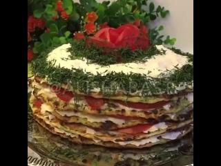 Кабачковый тортик.
