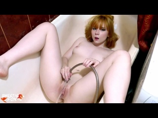 Redhead Teen Play Pussy Water Jet in the Bathroom - Sensual Solo Sweetie Fox [Am (1)