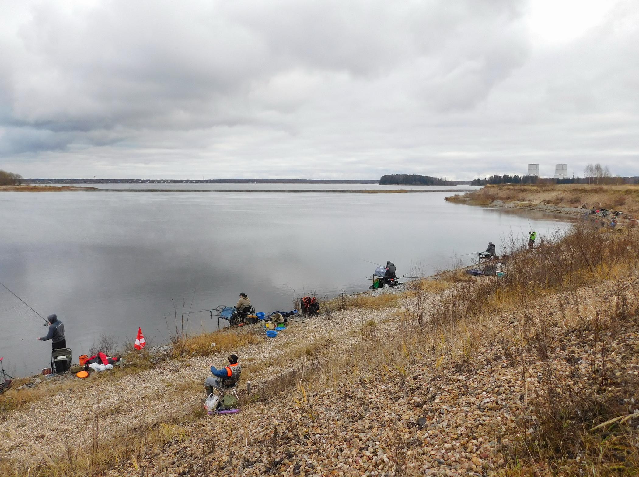 В Тверской области рыболовы-спортсмены поймали порядка 70 кг рыбы в озере-охладителе Калининской АЭС