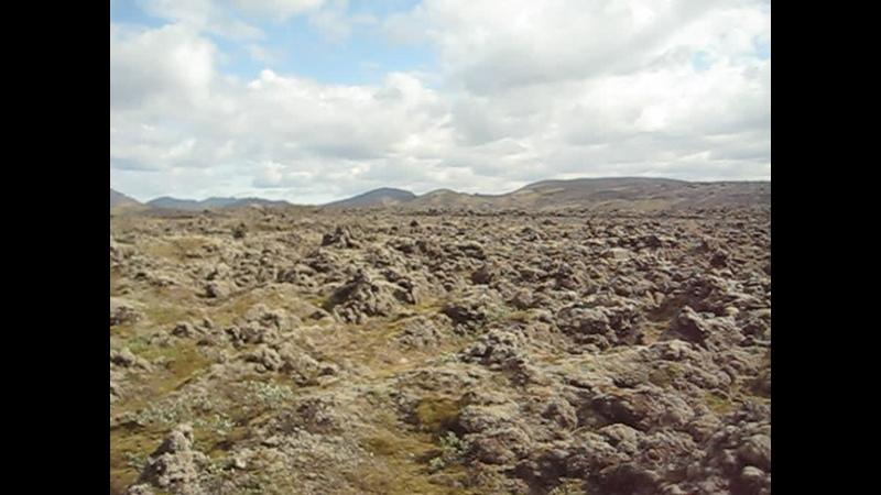 Первое наше лавовое поле в Исландии