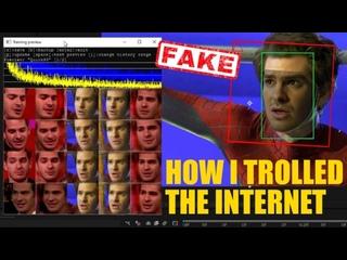 Как я троллил весь Интернет - Эндрю Гарфилд DeepFake (ЧЕЛОВЕК ПАУК 3 НЕТ ПУТИ ДОМОЙ) Видео Подделка