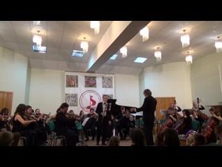 """С.И.Танеев  """" Канцона """" для кларнета и струнного оркестра."""