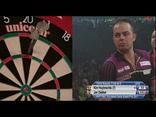 Kim Huybrechts vs Jan Dekker (European Darts Grand Prix 2017 / Round 3)