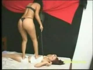 MFX Lesbian trampling