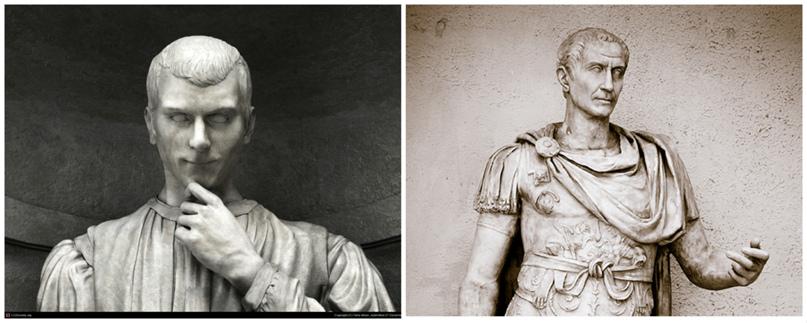 Слева Николло, справа Цезарь. Они даже чем-то похожи в своих каменных ипостасях времен Возрождения.