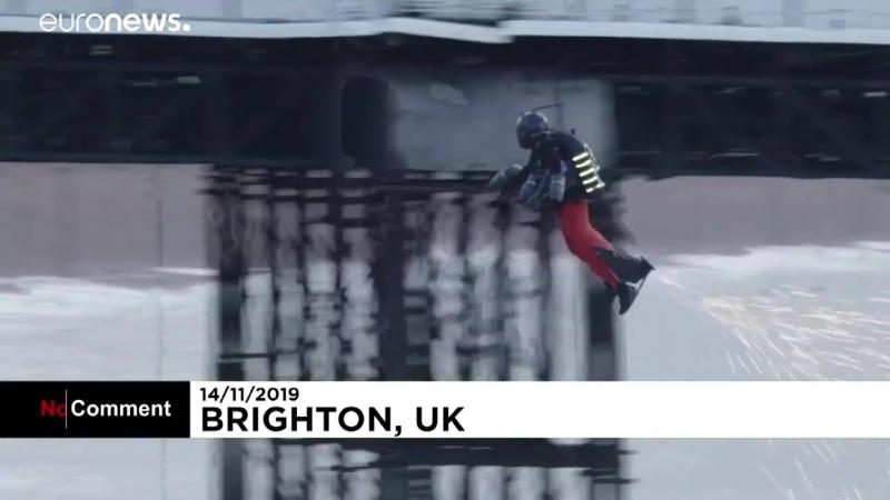 Новый рекорд скорости полёта в летающем костюме ЖЮ