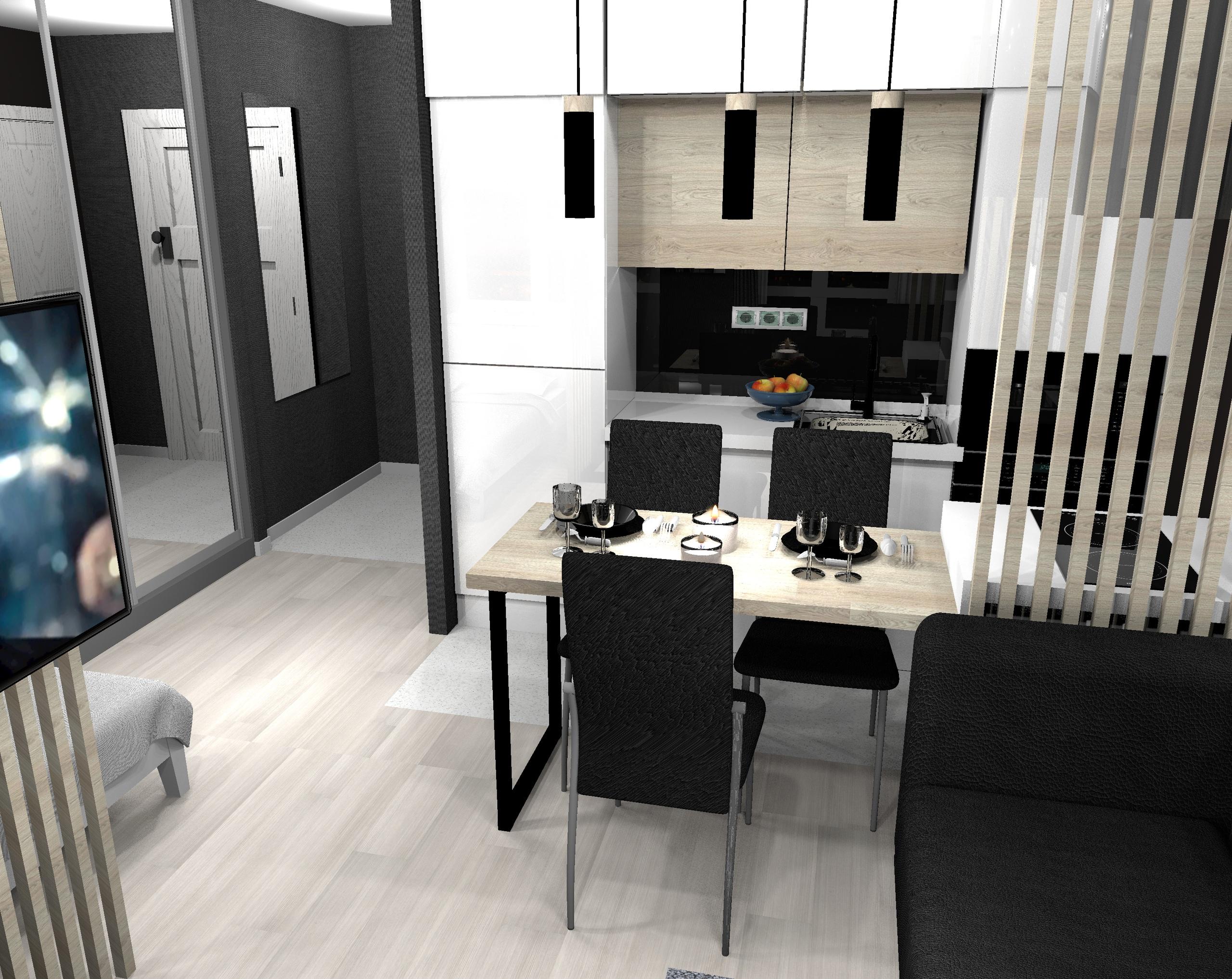 Дизайн квартиры-студии 26,5 кв.