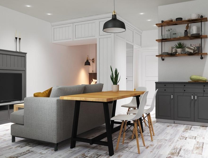 Дизайн-проект квартиры-студии 30 м.