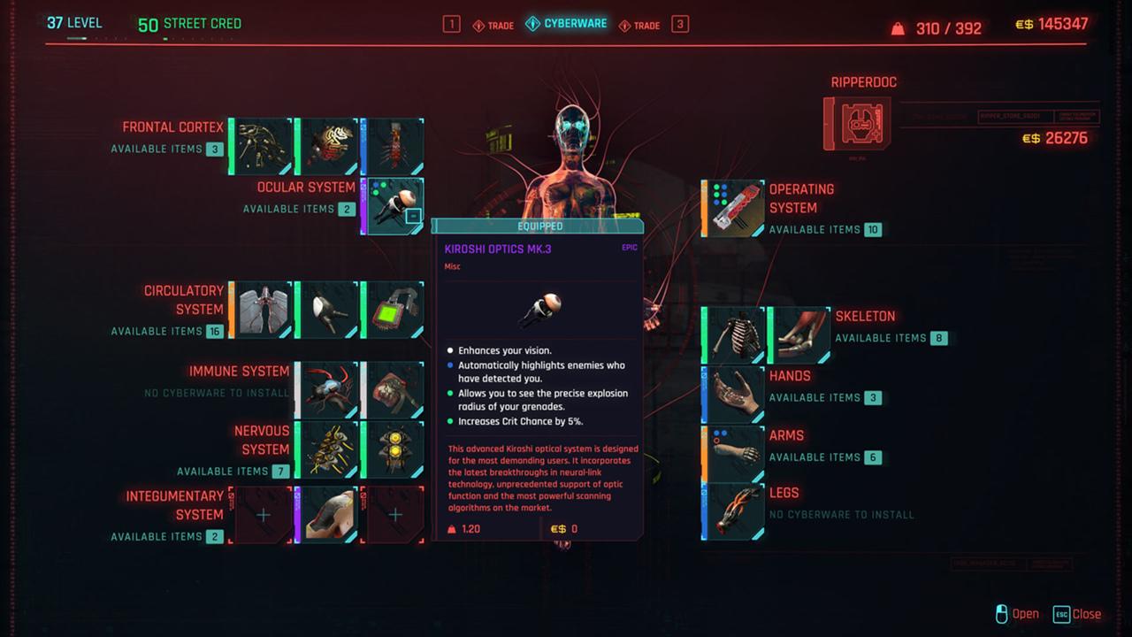 cyberpunk 2077 модификации имплантов