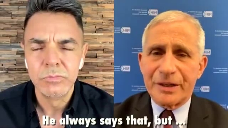 Dr Fauci gets grilled by Mexican comedian on