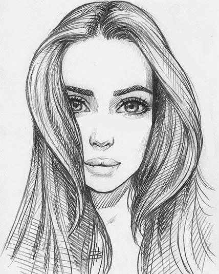 drawings of girls - 736×919