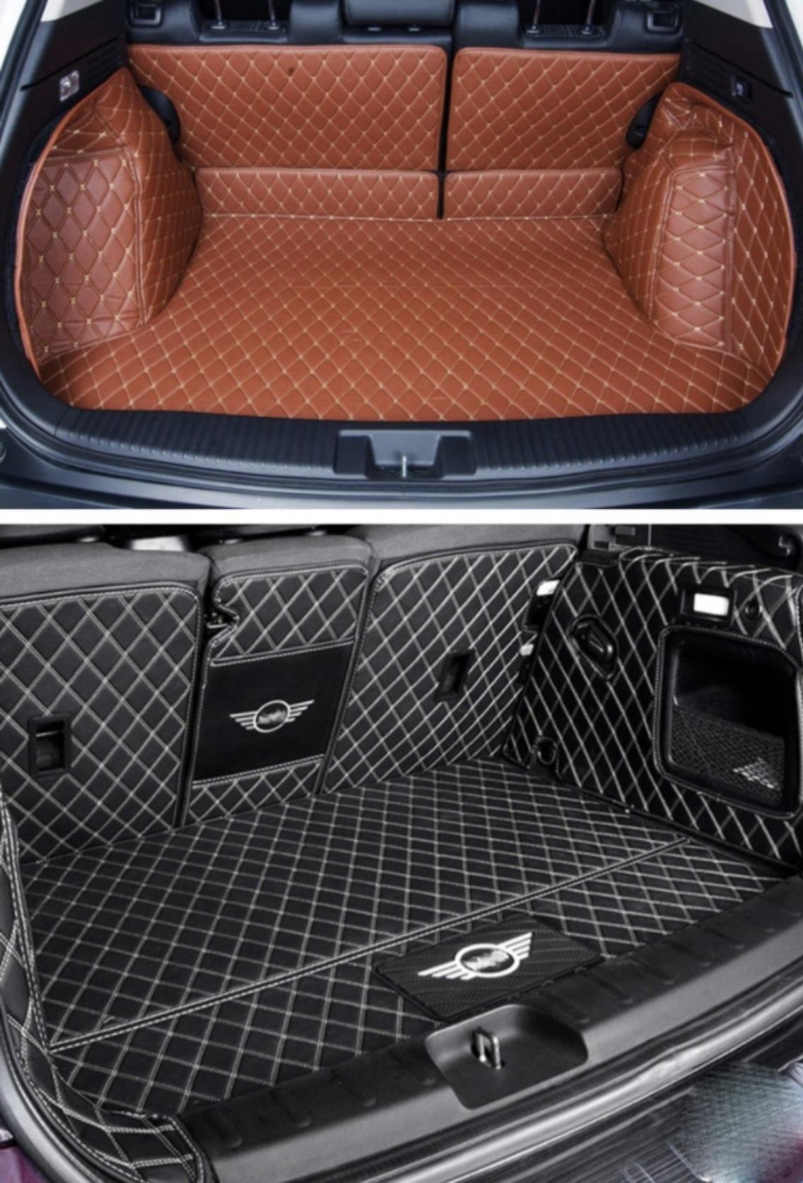 Кожаная обшивка для багажника выглядит очень стильно