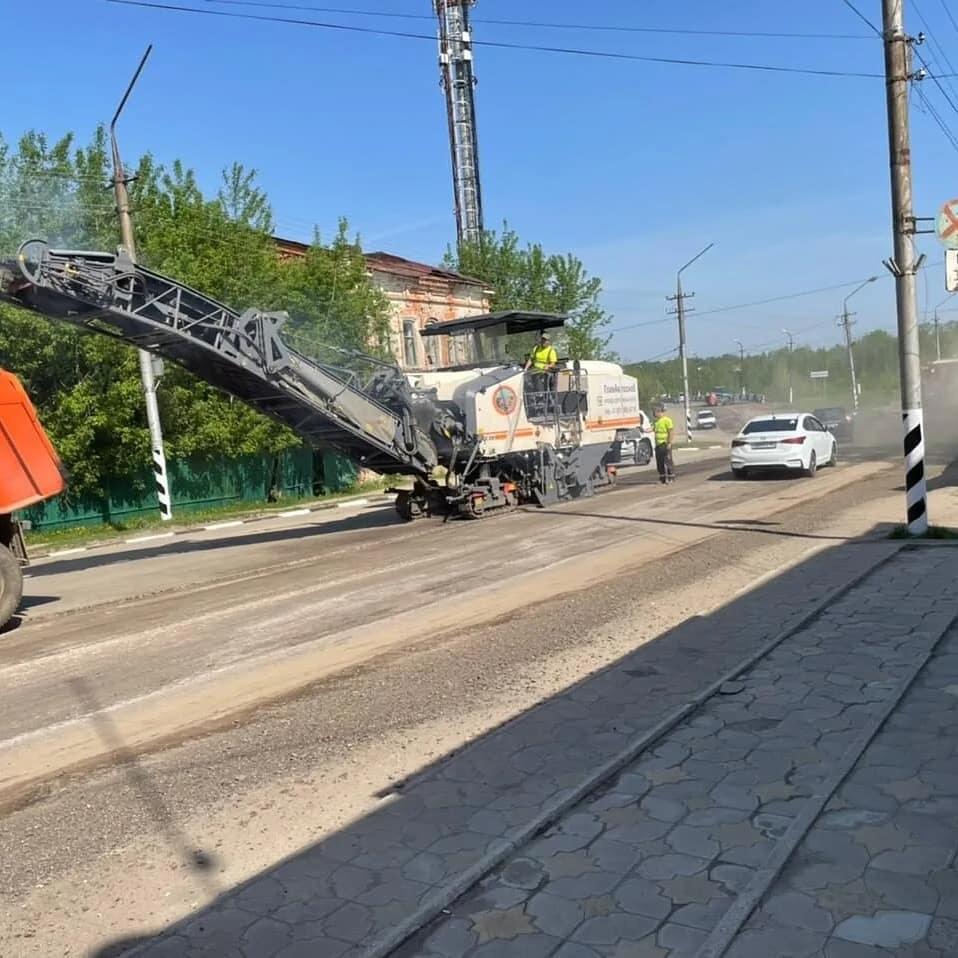 В Петровске на улице Братьев Костериных (участок от улицы Московской до улицы Ломоносова) идёт ремонт дорожного покрытия
