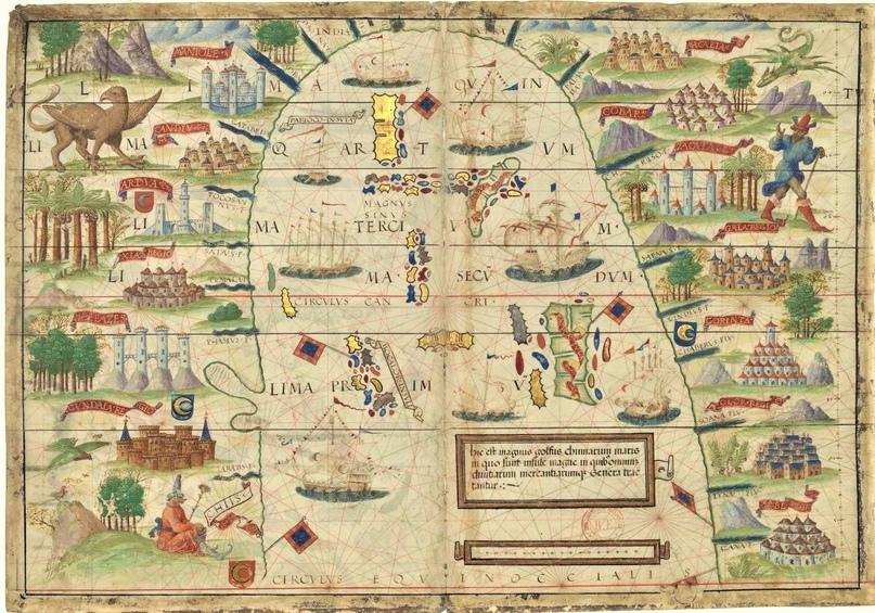 Sinus Magnus. Карта из Атлас Миллера (1519)