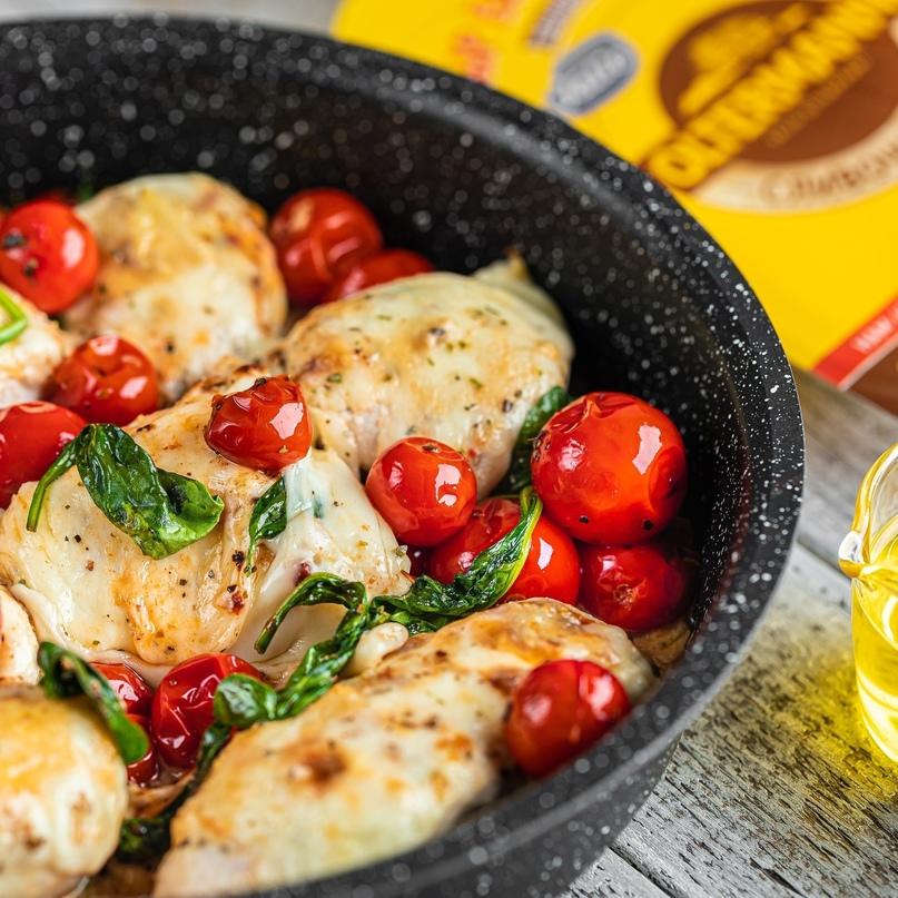 Курица с сыром и помидорами 🍅