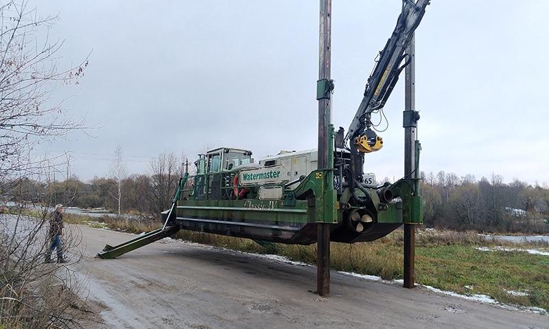 Реку Кимрку будут чистить при помощи земснаряда, аппарат уже доставили в Кимры