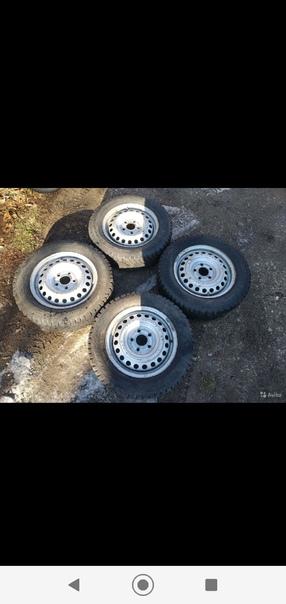 Продам колёса, резина Cordiant 195/65r15 шипов 70%...