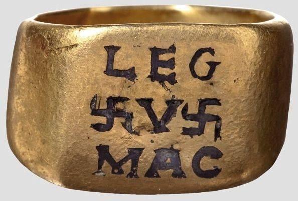 Золотое кольцо римского офицера 5-го Македонского легиона., 2-3 век н.э.