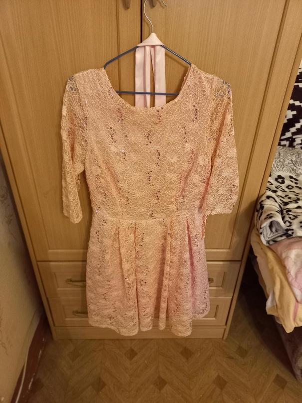 Платье нежно розового цвета , с поясом ,   Объявления Орска и Новотроицка №27870