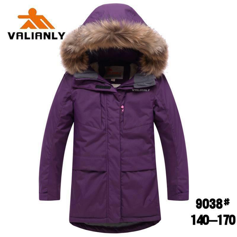 Зимняя парка Valianly 9038 фиолетовая