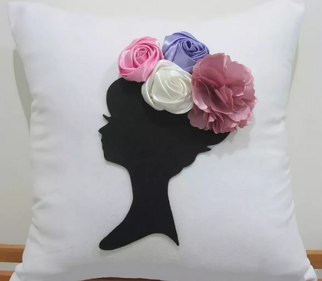 Цветочные подушки - шикарный декор для интерьера своими руками, как сделать подушку в виде розы пошагово, как сделать подушку в виде цветка своими руками, красивые диванные подушки своими руками,