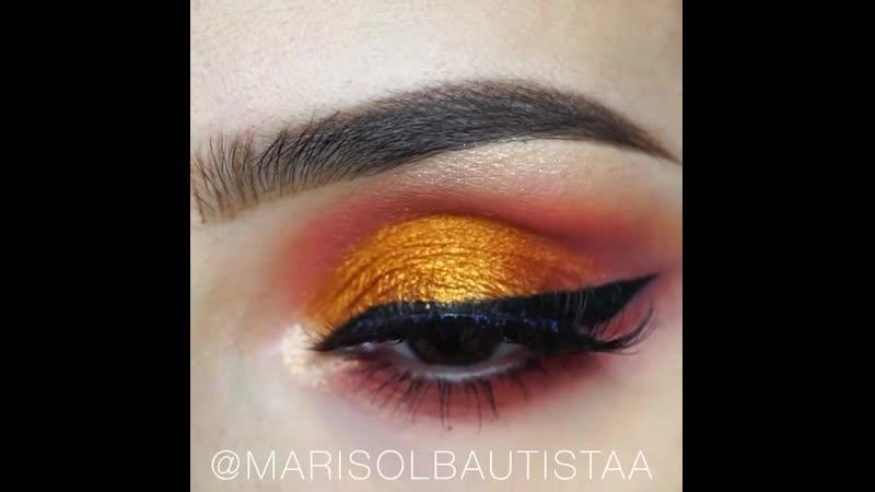 Осенняя гамма в макияже глаз